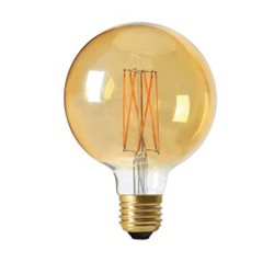 Pr Home Globlampa Led Elect Filament 125Mm 2,5W E27 Gold Dimbar