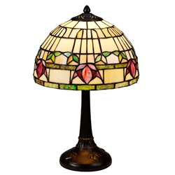 Nostalgia Design Fuchsia Bordslampa Tiffany 25Cm