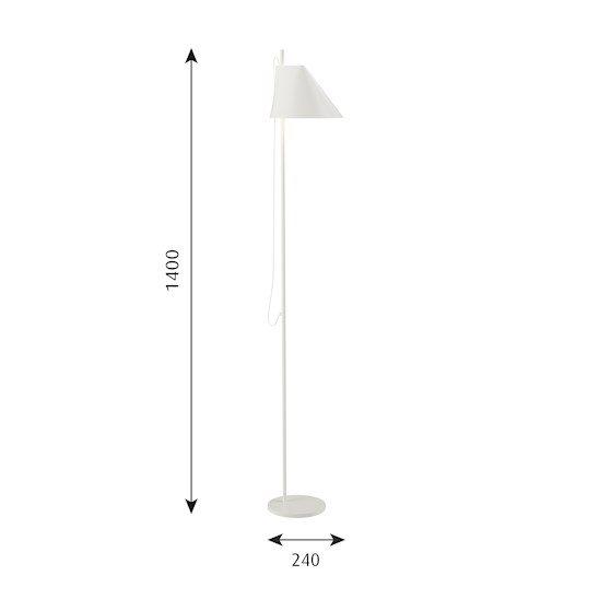 Stockholms Ljusbutik Louis Poulsen Yuh Golvlampa Svart Led 2700 Belysning och Lampor för Hem