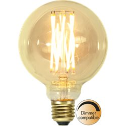Star Trading Globlampa Led Vintage Gold 95Mm 3,7W E27 Dimbar